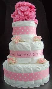 little lady stinky cake personalized flower diaper cake