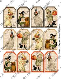 heather a hudson super cute vintage halloween tags