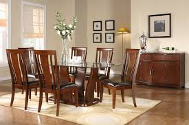 Glass Top Wooden Dining Room Table  House Decoration Ideas - Glass top dining table decoration