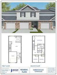 town home plans the marshton townhome savannah ga home builders