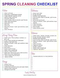 spring cleaning checklist simply darr ling