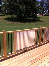 my new railings corrugated metal and metal balusters my husband