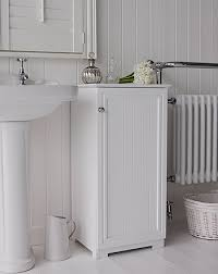 Freestanding White Bathroom Furniture Side View Of The White Freestanding Bathroom Cabinet Home