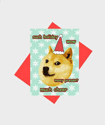 Doge Meme Christmas - doge christmas holiday greeting card design much doge holiday much