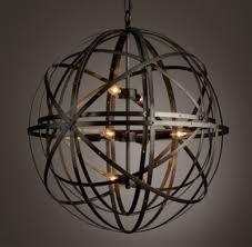 Sphere Pendant Light Orbital Sphere Large Pendant Pewter