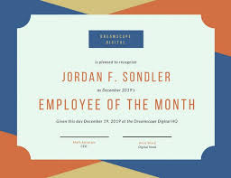 sample employee of the month certificate employee of the month certificate templates canva