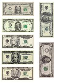 edible money 1 x a4 printed with separate dollar bills money decor icing sheet