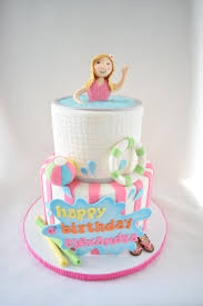custom made cakes pool party cake kyrsten s sweet designs custom made cakes and