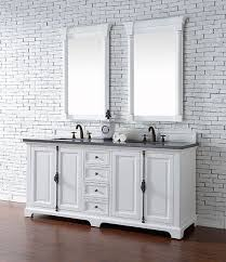 72 Inch White Bathroom Vanity by James Martin Providence Double 72 Inch Transitional Bathroom