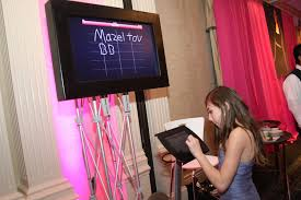 bat mitzvah sign in boards high tech bar bat mitzvah ideas and trends sweet 16 party