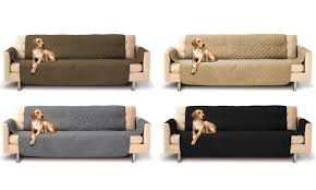 Sofa Protector Quilted Micro Suede Furniture Protector Sofa Cover Groupon