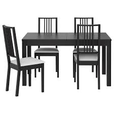 ikea black brown dining table bjursta börje table and 4 chairs brown black gobo white ikea