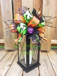 halloween lantern swag bats cats and spiders swag spooky floral