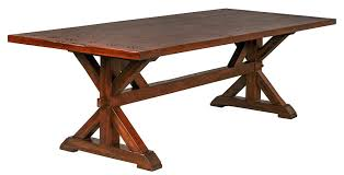 Country Dining Table Creative Decoration Trestle Dining Tables Valuable Idea Italian