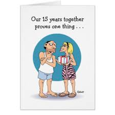 happy 15th wedding anniversary cards invitations greeting