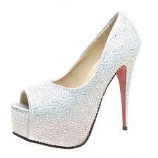 wedding shoes platform velcans velcans fashion rhinestone platform high