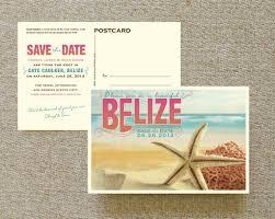 Wedding Postcards Travel Postcard Save The Date Belize