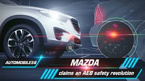 mazda automobile mazda claims an aeb safety revolution automobile 5s youtube