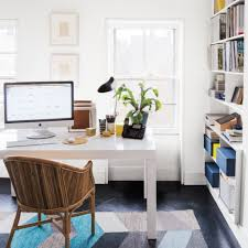 Impressive Printed Rug And White Desk For Creative Ideas Home - Creative ideas home office furniture