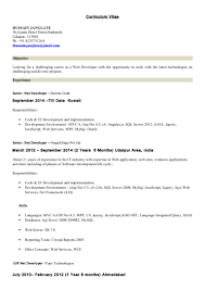 Sample Resume For Dot Net Developer Experience 2 Years by Asp Net Mvc Developer Resume Free Resume Example And Writing