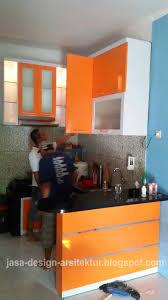 Kitchen Set Minimalis Putih Kontraktor Interior Surabaya Sidoarjo Desain Kitchen Set Warna