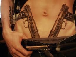 wonderful gun tattoo design on stomach tattoos book 65 000