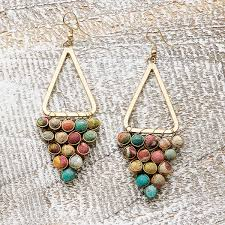 kantha chandeliers earrings colorful handmade jewelry
