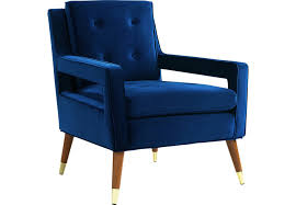 Navy Accent Chair Darius Navy Accent Chair Accent Chairs Blue