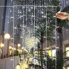 150 bulbs curtain light 12 drops 7 ft