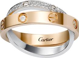 cartier love rings images Crb4094600 love ring diamond paved pink gold white gold png