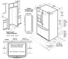 French Door Fridge Size - undercounter refrigerator dimensions bbq pinterest