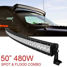 curved led light bar 50 inch 480w spot flood combo cree curved led light bar offroad