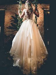 wedding dresses with sash ribbon buy scoop lace appliques a line chapel open back