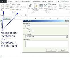 tutorial excel basic basic tutorial for excel basic macros in excel using the macro