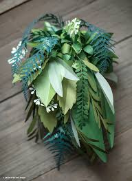 Wedding Flowers Greenery Paper Botanical Bridal Bouquet Paperpapers Blog