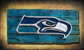 Seattle Seahawks Handmade Distressed Wood Sign Vintage Art - Home decor seattle