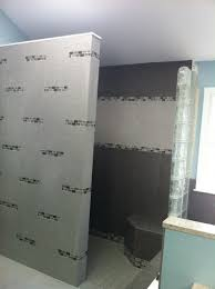 small bathroom design ideas alongside grey ceramic textile tile