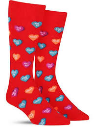 mens valentines day candy hearts s day socks for men