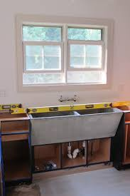concrete farmhouse sinks window trim color big old sink in