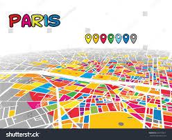 Paris France Map by Paris France Downtown 3d Vector Map Stock Vector 670733671