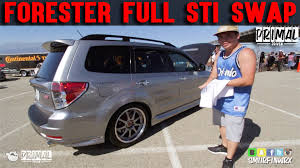 subaru forester red 2016 subaru forester full sti swap bonus red sti footage subiefest