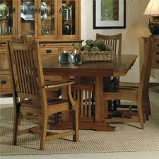 hekman arts and crafts trestle table sprintz furniture dining