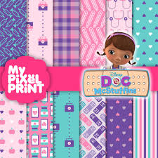 doc mcstuffins wrapping paper doc mcstuffins disney junior inspired purple pink teal birthday