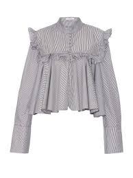 141 best ruffled blouses images on pinterest ruffles fashion