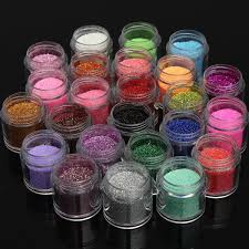 amazon com pro 24 colors pro shiny metal glitter uv powder dust
