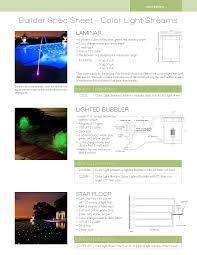 color light streams water features led swimming pool lighting