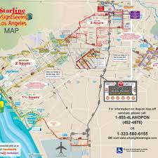 Map Of Venice Beach Hop On Hop Off Los Angeles City Tours Starline Tours