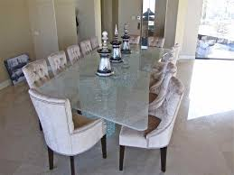 all glass dining room table shattered glass starphire clear 85x159 sans soucie