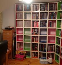 bookshelves with storage replacing bookshelves with way basics cube storage disobey com