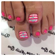 beach pink white with anchor pedicure ideas pinterest pink